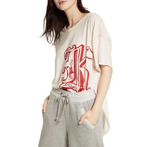 Free People Letter K Graphic Tee